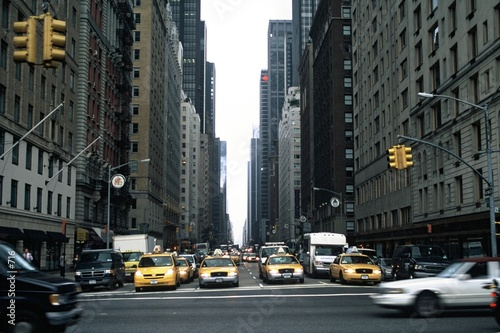 Keuken foto achterwand New York TAXI New York Traffic