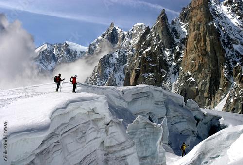 Photo alpinisme et crevasse