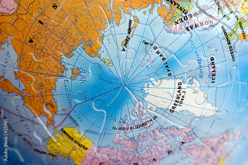 Recess Fitting Antarctic world 3d puzzle: north pole