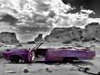 Leinwandbild Motiv abandoned car