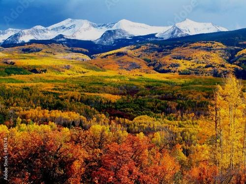 Fotografie, Obraz  fall mountains