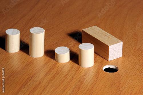 Fotografie, Obraz  square peg 1