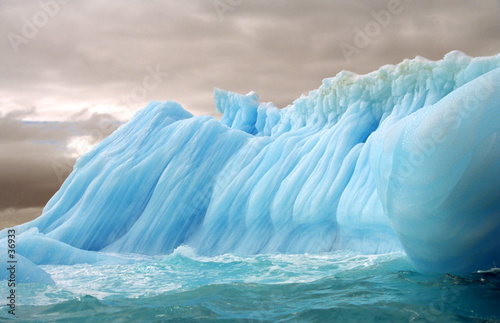 stripped iceberg