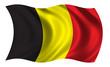 canvas print picture - flag of belgium