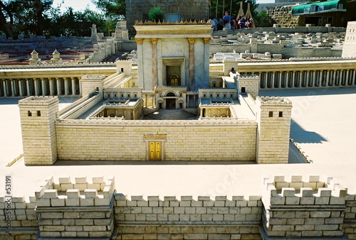 Wall Murals Place of worship model of jerusalem city, details