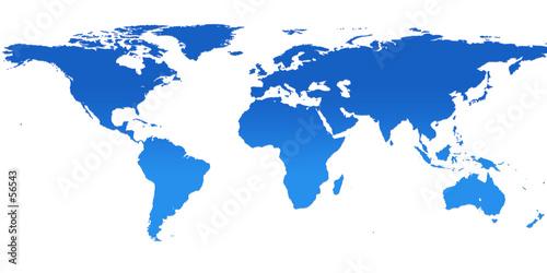 In de dag Wereldkaart blue world map