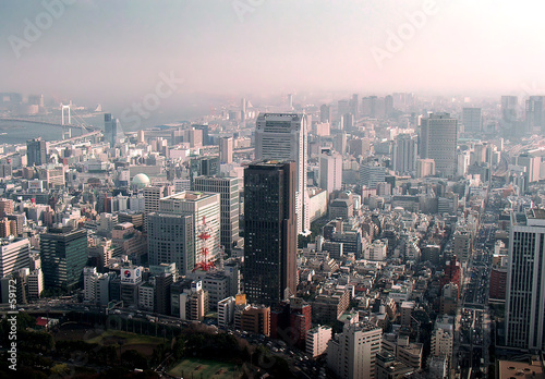 tokyo city fog