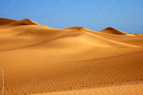 Canvas Prints Desert golden sand