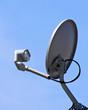 canvas print picture - satellite dish