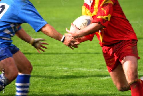Canvastavla rugby passe adverse