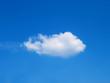Leinwandbild Motiv lonely cumulus cloud in the sky