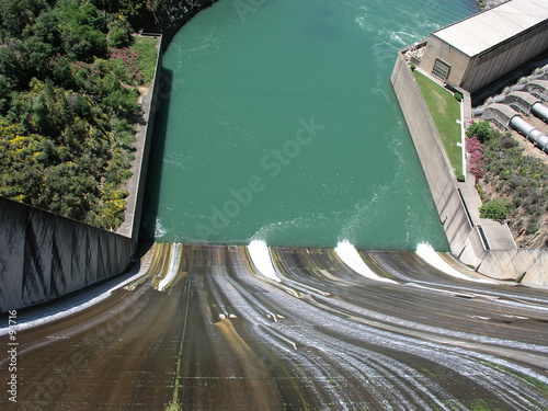 Canvas Prints Dam spillway