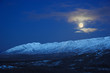Leinwanddruck Bild - full moon over alaska range