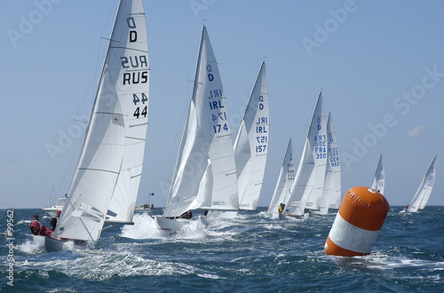 Canvas Prints Sailing course de voiliers