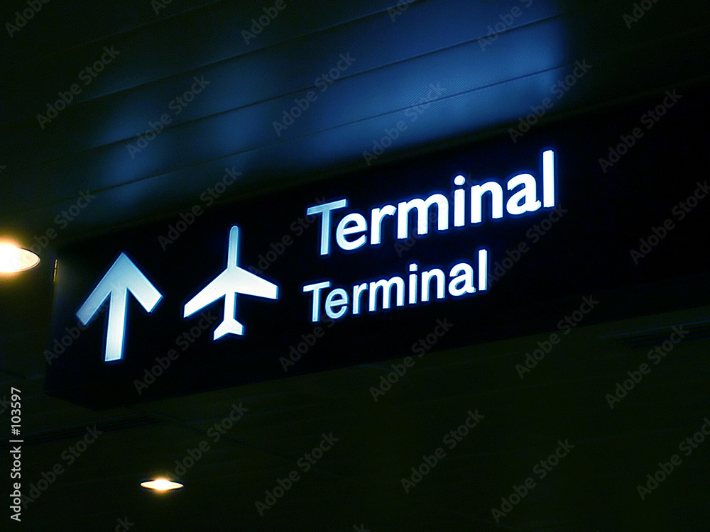 Fototapeta terminal sign board