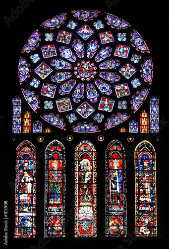 Obraz na plátně rosace et vitraux