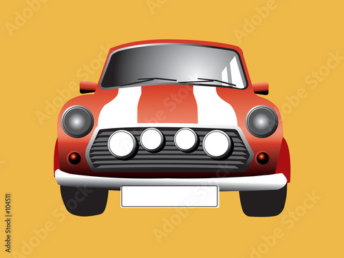 Canvas Prints Cars here somes the mini