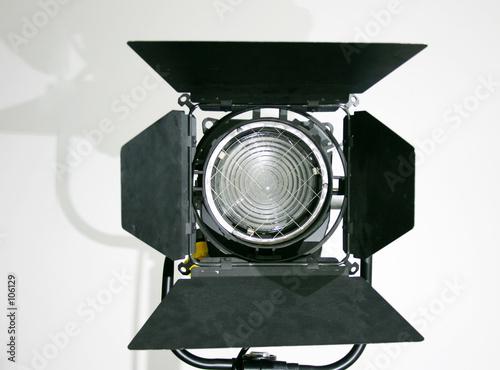 Fototapeta studio fresnel spot lamp