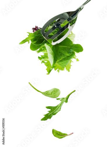 Fotografie, Obraz  falling salad leaves