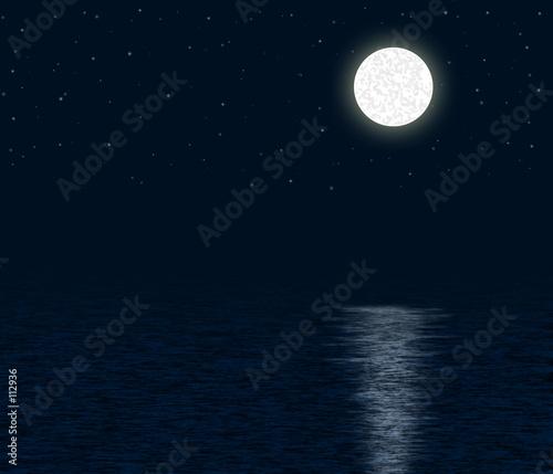 Fotografia moonlit ocean