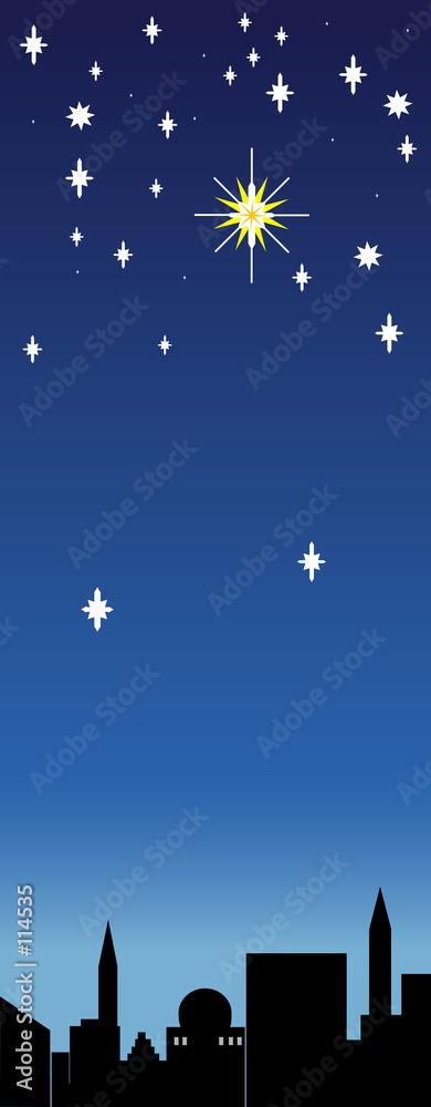 einzelne bedruckte Lamellen - christmas star