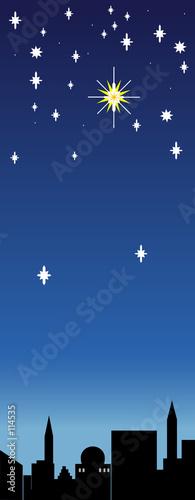 einzelne bedruckte Lamellen - christmas star (von Clivia)