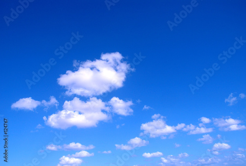 Poster Dark blue sky with clouds
