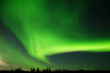 Leinwanddruck Bild - large and bright aurora arc