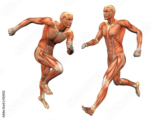 muscle man w/ clipping mask Fototapet