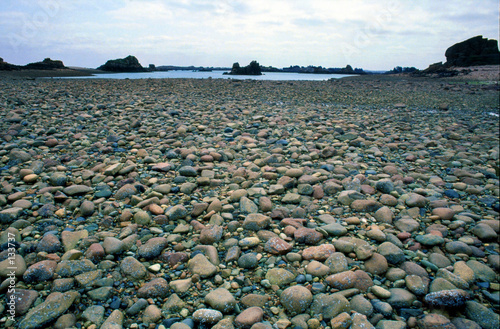 Photo plage de galets bretagne
