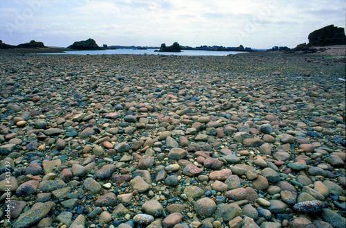 Fototapeta plage de galets bretagne