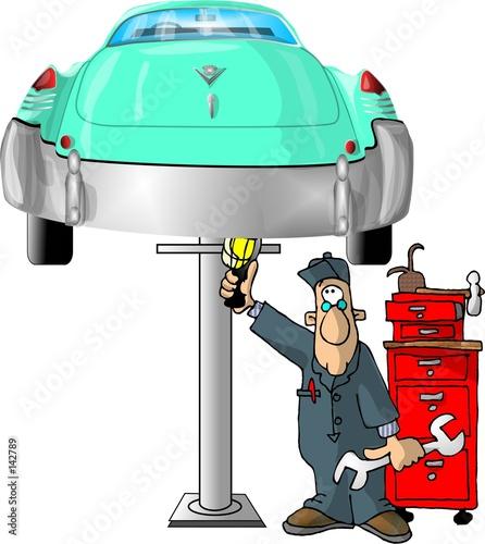 Foto-Stoff - auto mechanic