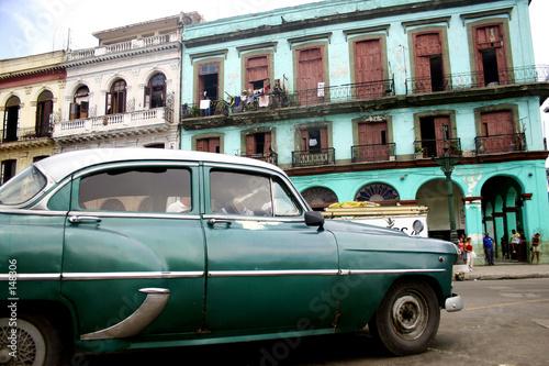 Deurstickers Cubaanse oldtimers old habana