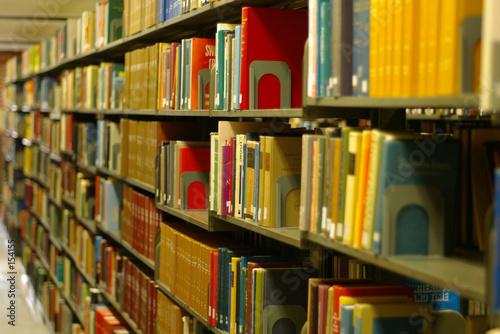Fotografie, Obraz  library books