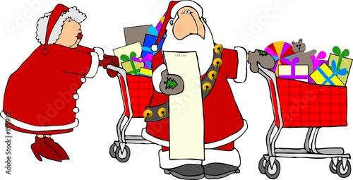 Santa Mrs Claus Shopping