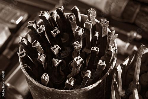 Fotografie, Obraz  embossing letters