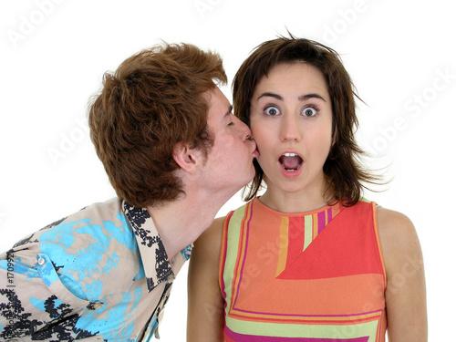 Fotografia  kiss on the cheek
