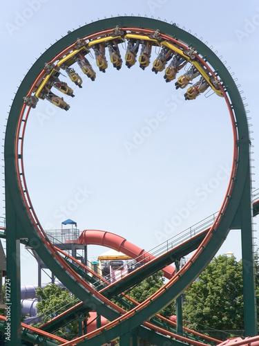 Papiers peints Attraction parc skyrider roller coaster