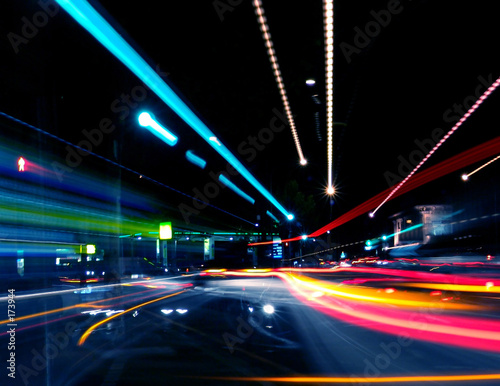 Leinwanddruck Bild - Kwest : abstract street trails