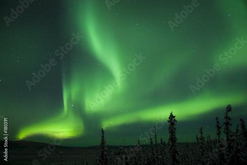 active splitting aurora borealis arc