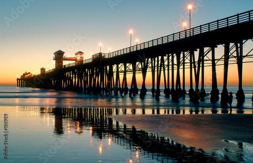 Canvas Print oceanside sunset