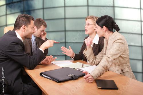Vászonkép  business negotiations - 2 men 2 women