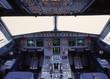 canvas print picture - a319 cockpit