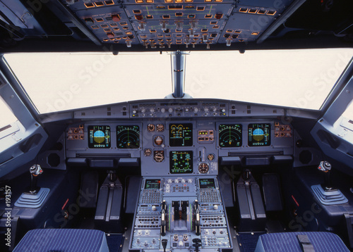 Fotografie, Obraz  a319 cockpit