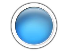 Aqua Blue Button