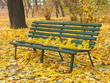 canvas print picture lonely park bench