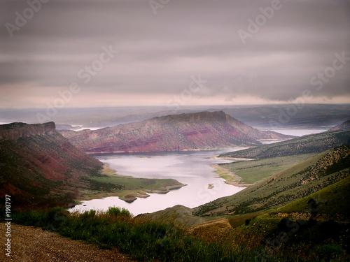 Canvas Print flaming gorge national park, Utah