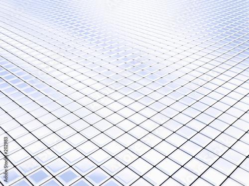 fototapeta na lodówkę silver squares