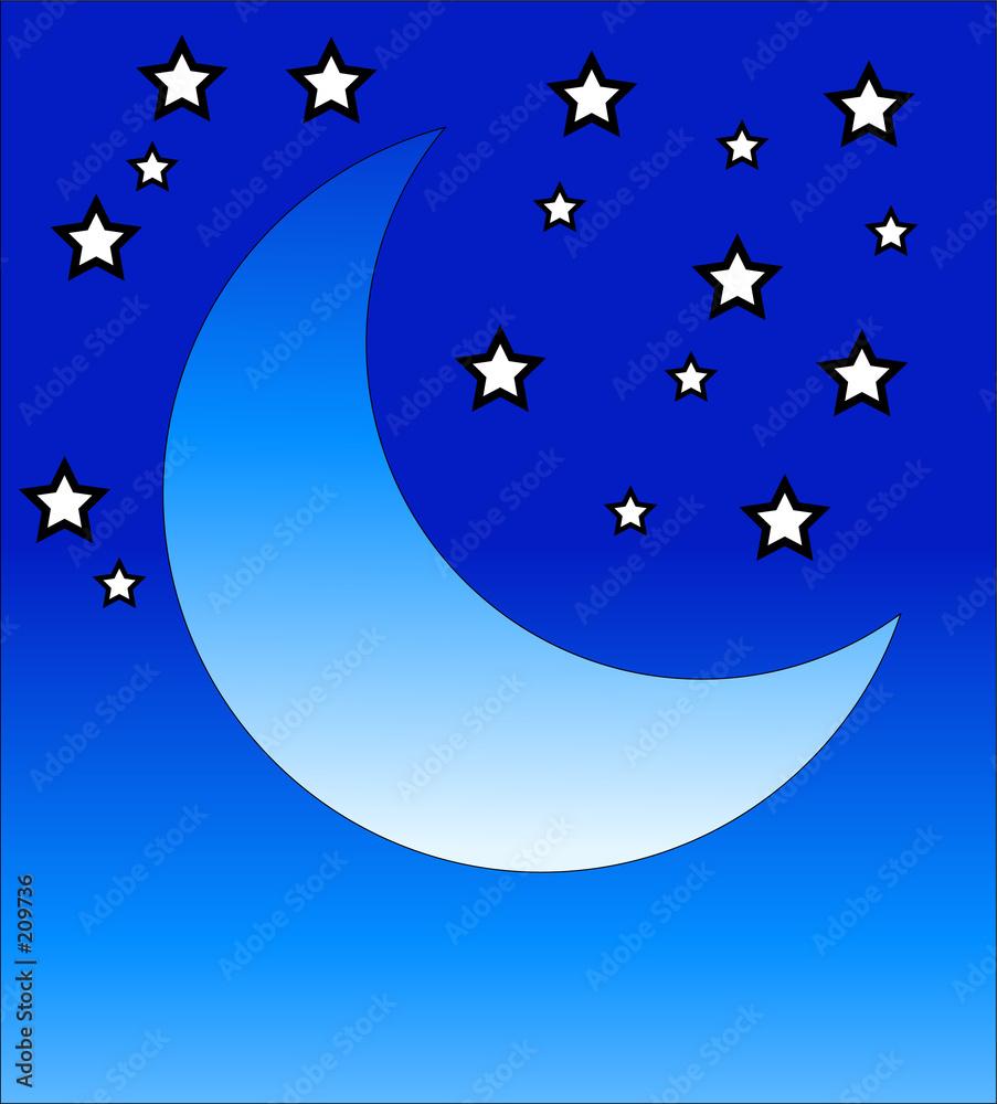 Foto-Plissee - crescent moon 2