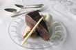 canvas print picture - chocolate cake 1